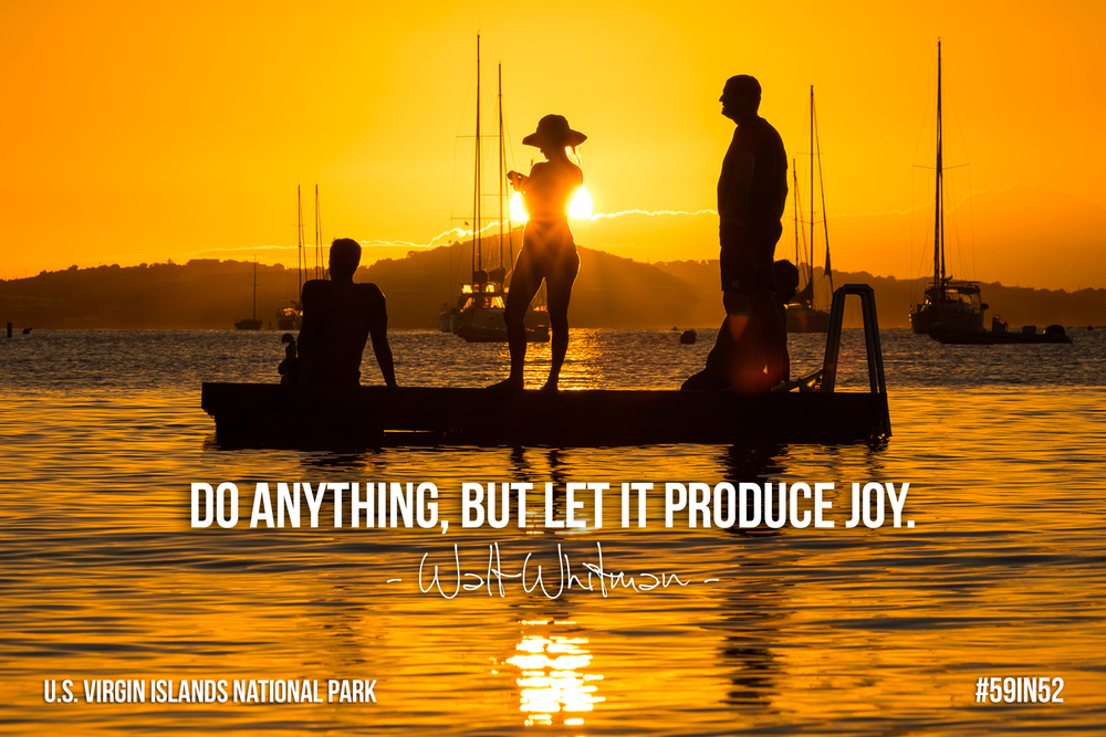 """Do anything, but let it produce joy."" - Walt Whitman"