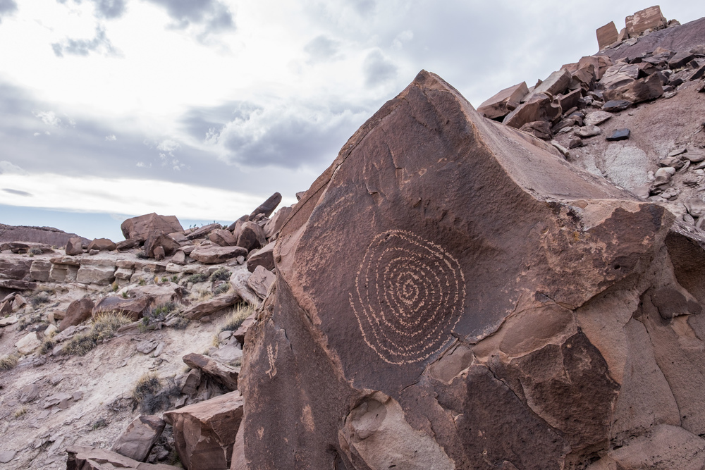 A petroglyph at Martha's Butte depicting the summer solstice.