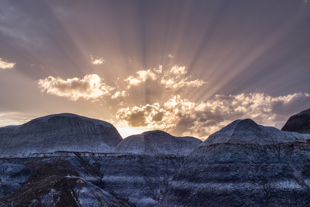 A spectacular sunset at Blue Mesa.