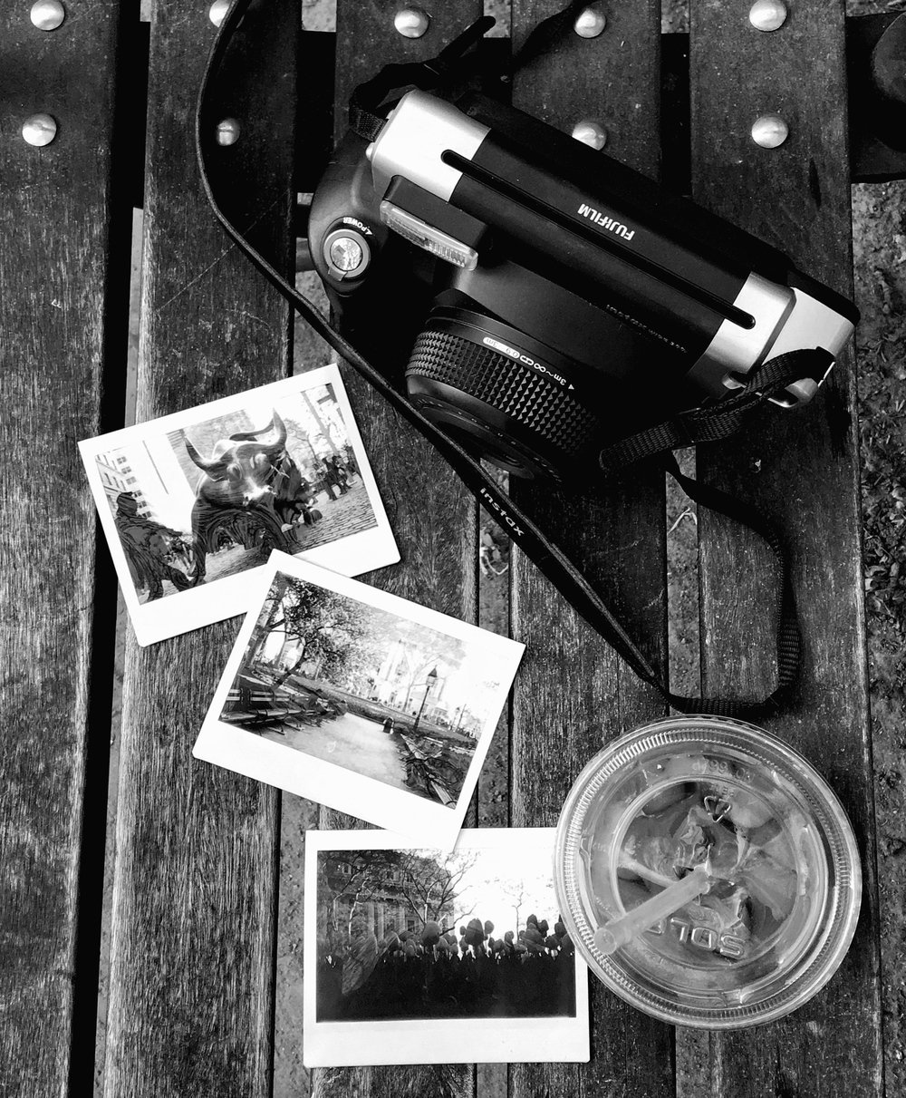 A Fujifilm Instax scene while taking a brief stop in New York for media activities... black and white suited the mood!