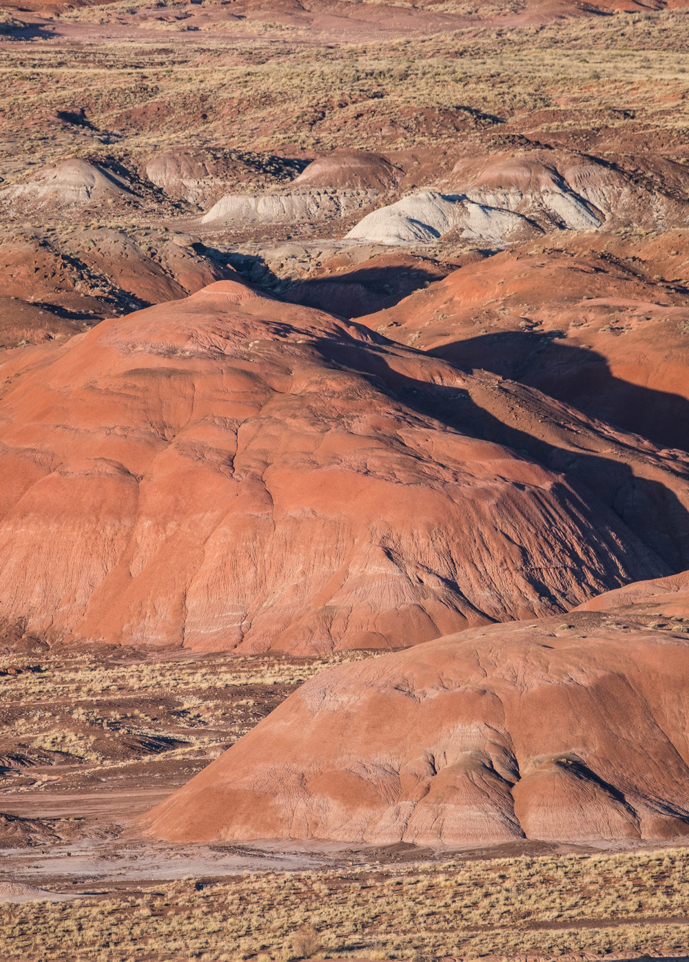 A telephoto view of the Painted Desert.