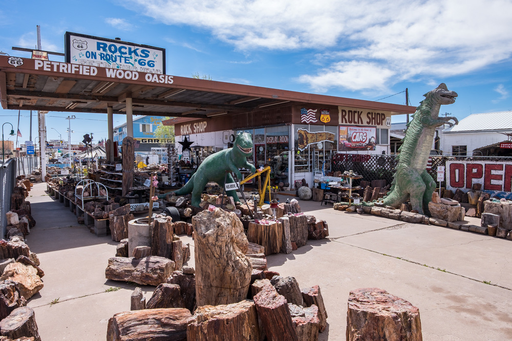 In the nearby town of Holbrook, where many visitors stay while visiting the park, you can buy petrified wood (legally) from private sellers.