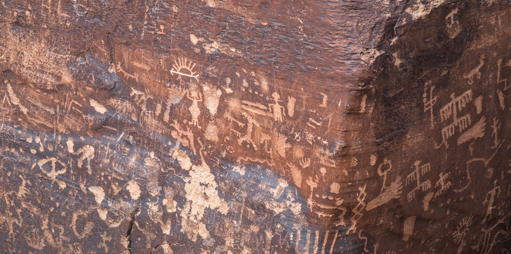 Centrally located Newspaper Rock is where you can find 600 Petroglyphs from the native peoples.