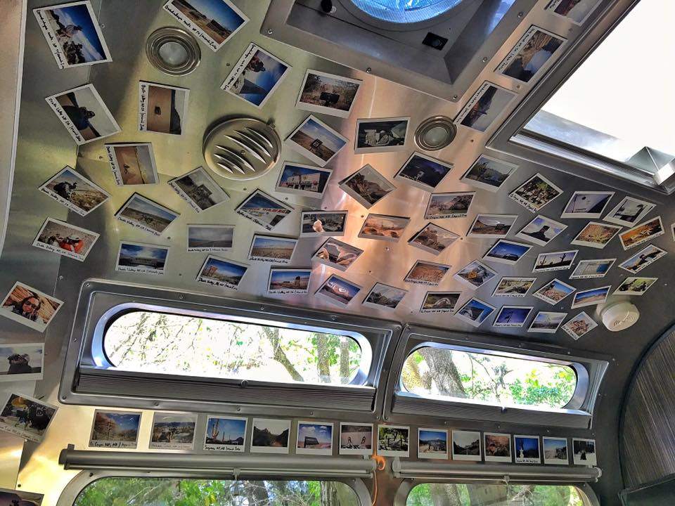 Decorated the ceiling of the Airstream with Fujifilm Instax! :)