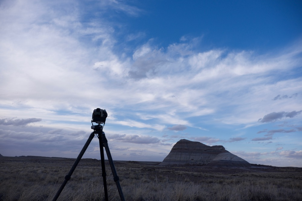 Catching some timelapse footage in Arizona's Petrified Forest National Park.