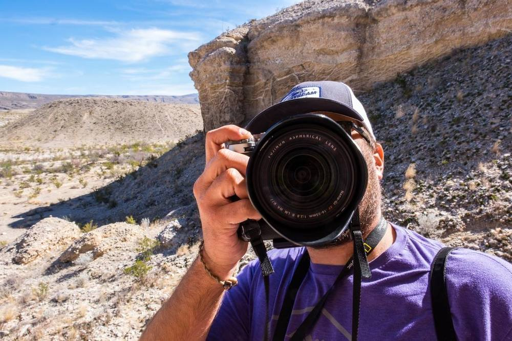 Jon shooting with his 16-55mm lens at Big Bend National Park in Texas.