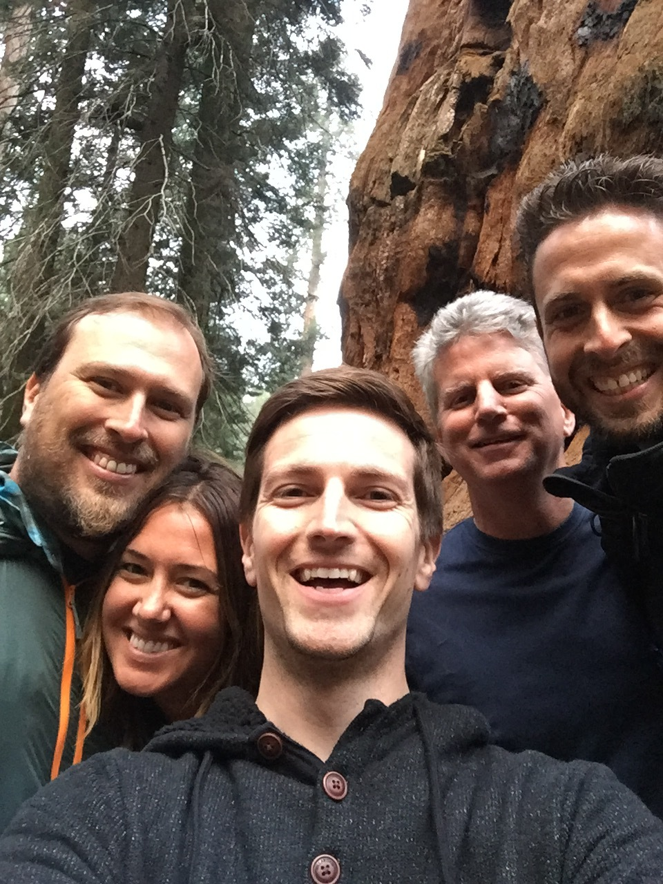 The Good Morning America A-Team at Sequoia National Park in California.