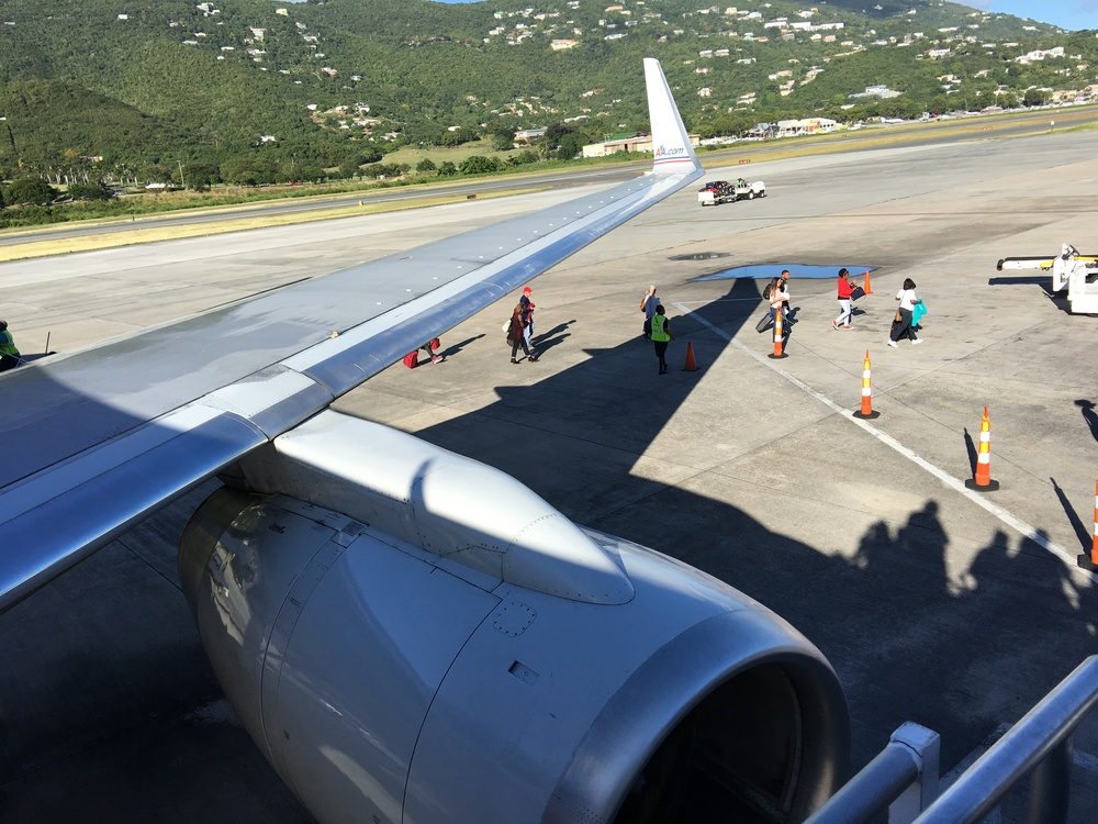 Planes... (making way to Virgin Islands National Park.)