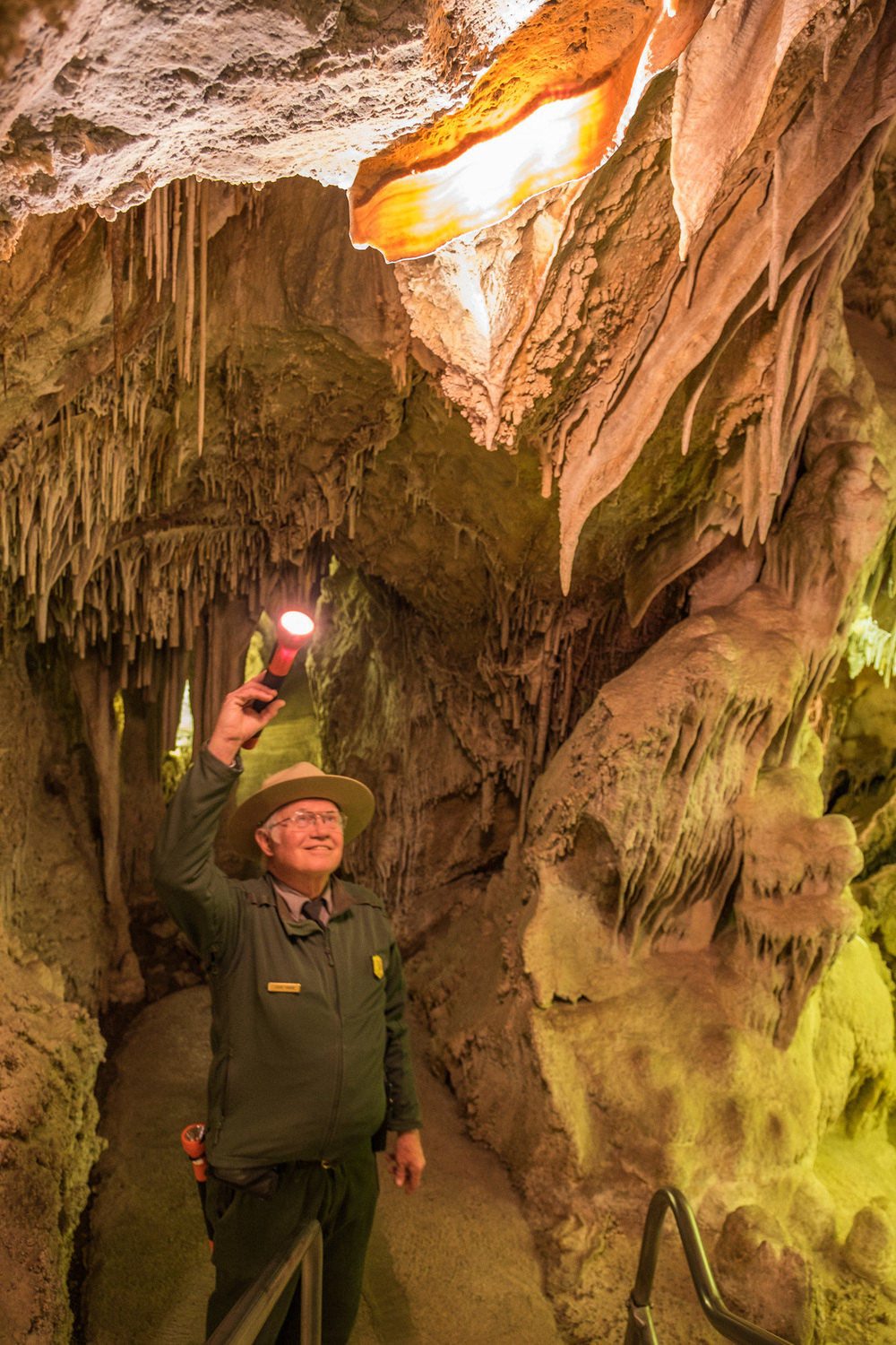 My awesome guide, Steve, shows me a great example of what has now become my favorite cave formation ever.....bacon!