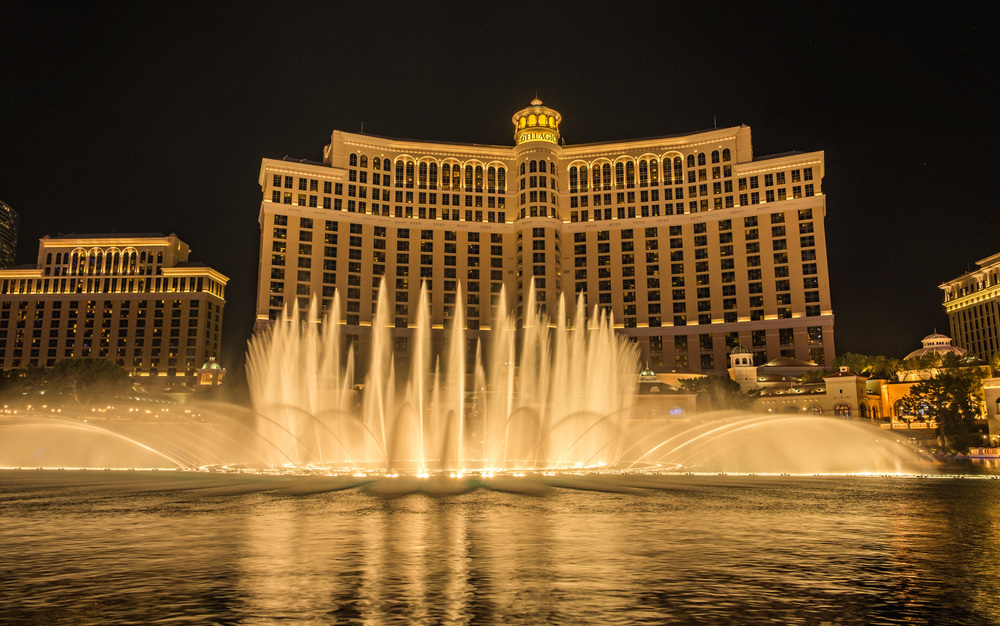 The Bellagio fountains were beautiful.