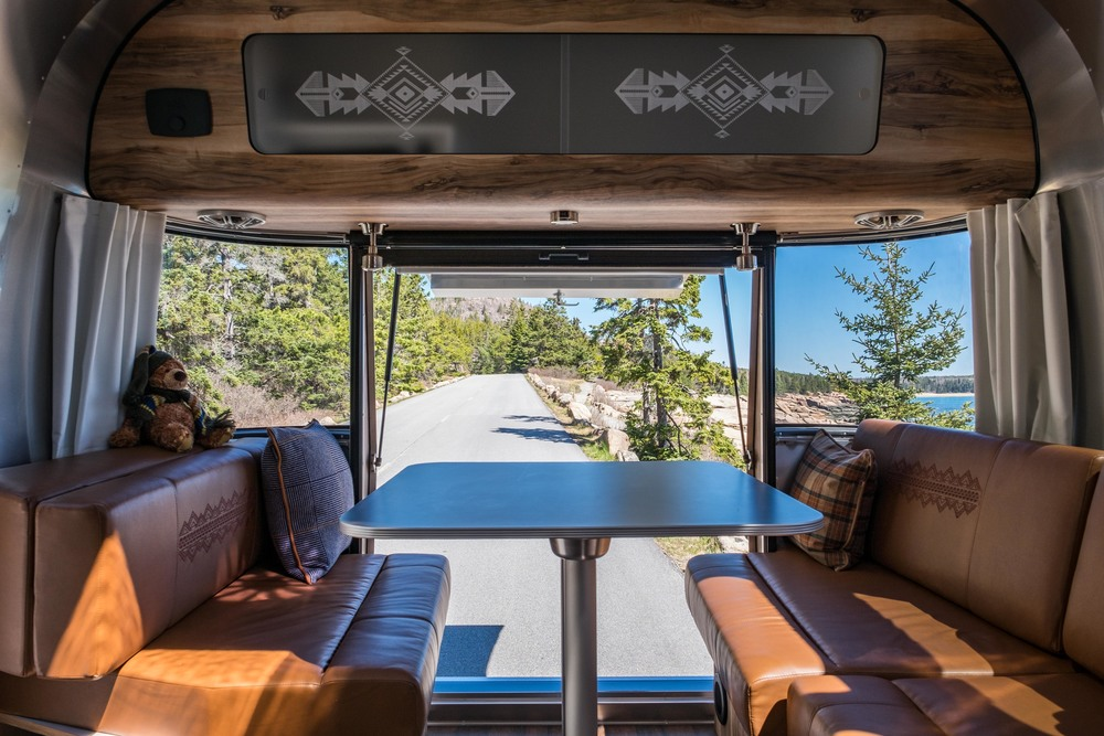 The most noticeably unique feature of the Limited Edition Pendleton Airstream is the rear hatch opening.