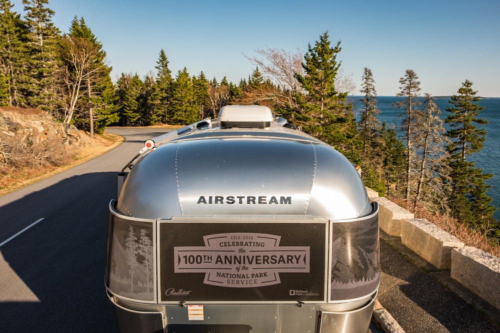 Of course, we arrived in style...in a beautiful Pendleton 100th Anniversary Airstream trailer (Wally was waiting for us back on the west coast.)