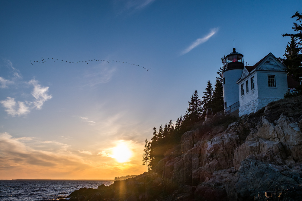 The next sunset stop was the Bass Harbor Lighthouse, an iconic site within the park.