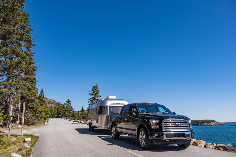 The Ford F-150 Limited Edition truck had all of the muscle needed to tow this 27-foot trailer.