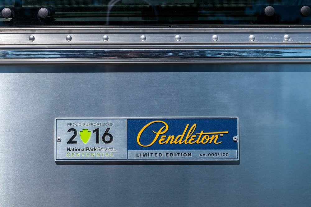 Only 100 Limited Edition National Park Pendleton Airstreams were made. Ours, was a floor model.