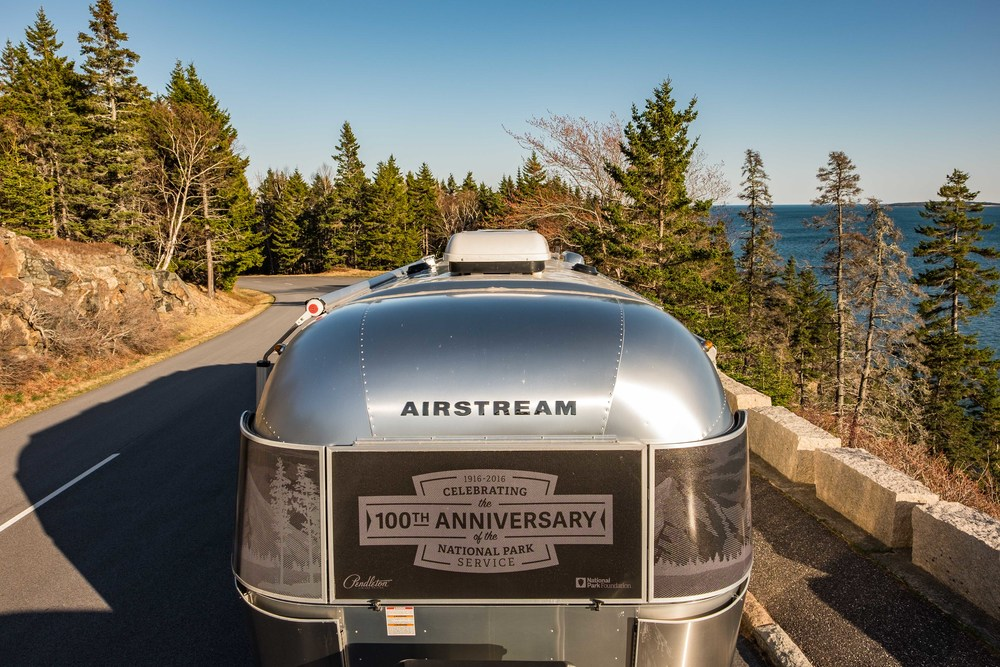 The Pendleton Limited Edition National Parks Airstream joined us on the road in Maine.