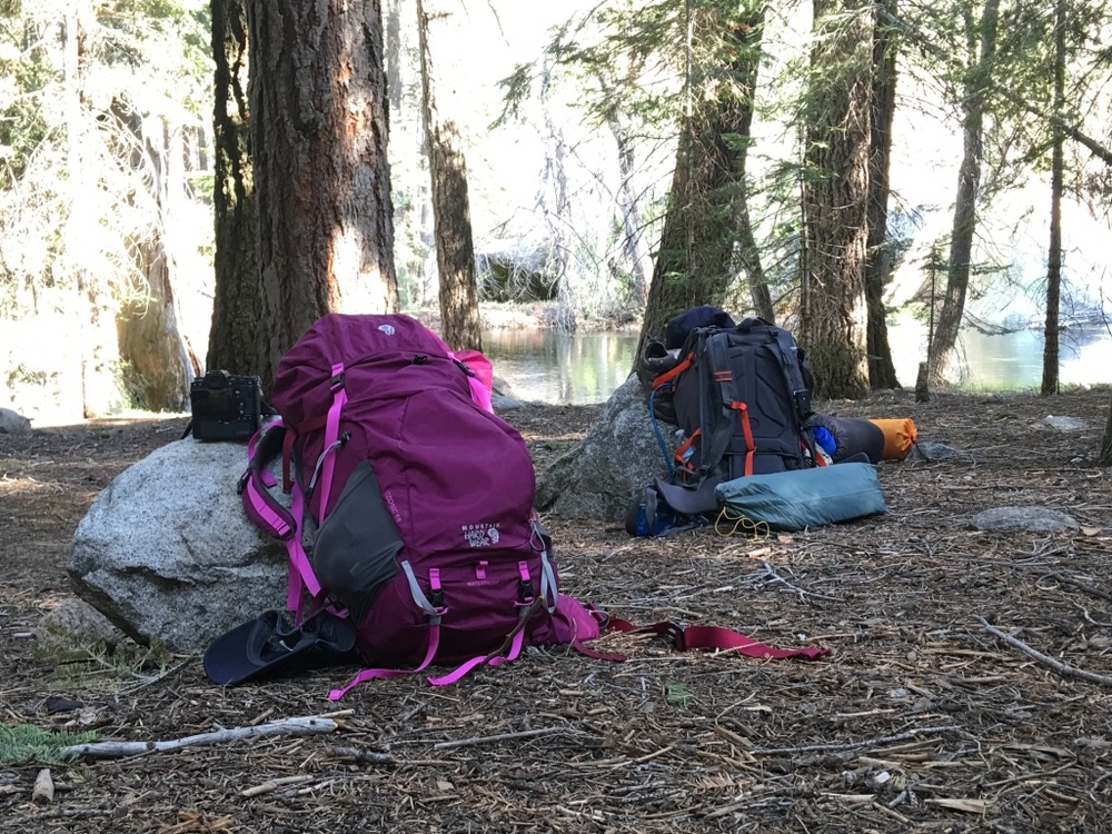 Mountain Hardwear gear waiting for us to stop taking photos in Kings Canyon National Park.