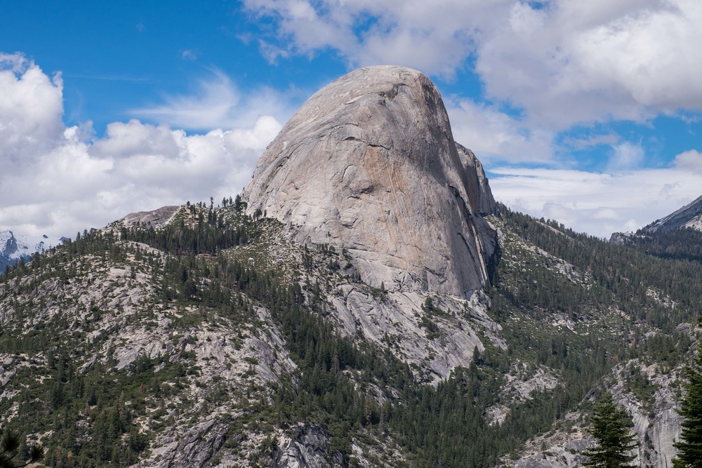 Half Dome as seen from Glacier Point.
