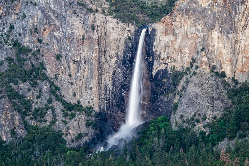 Flowing all year long, Bridalveil Falls.