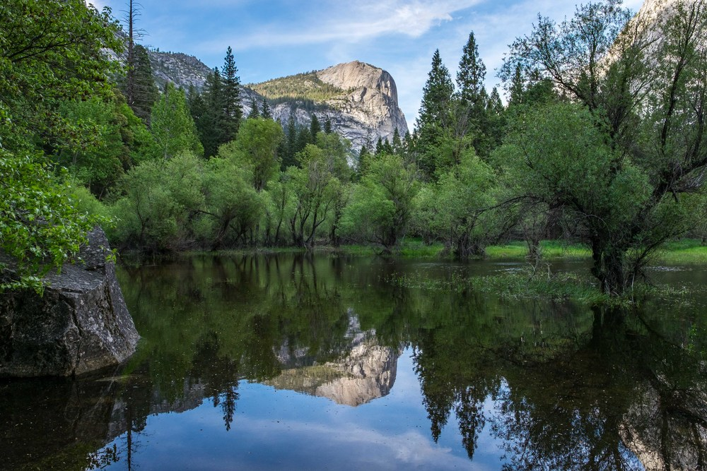 Mirror Lake at Yosemite National Park.