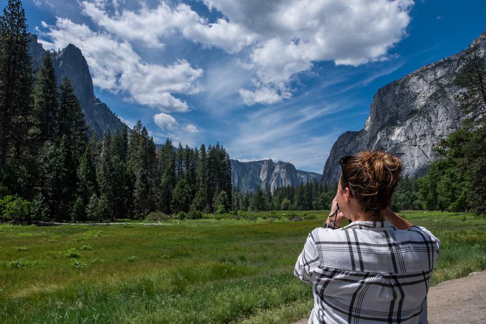 Stef had never been to Yosemite before, but she quickly fell under its spell.