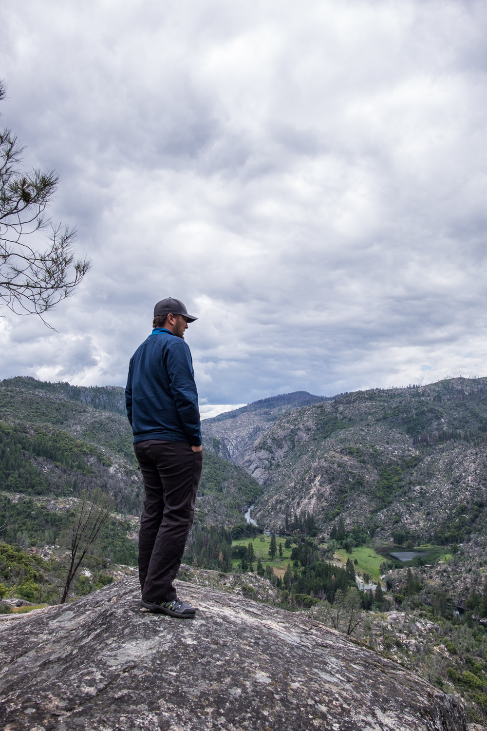Stef caught me pondering the many questions of the Hetch Hetchy Valley.