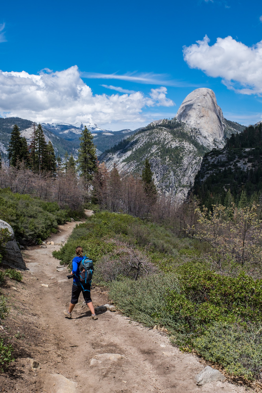 The Panorama Trail winds around the backside of Half Dome.