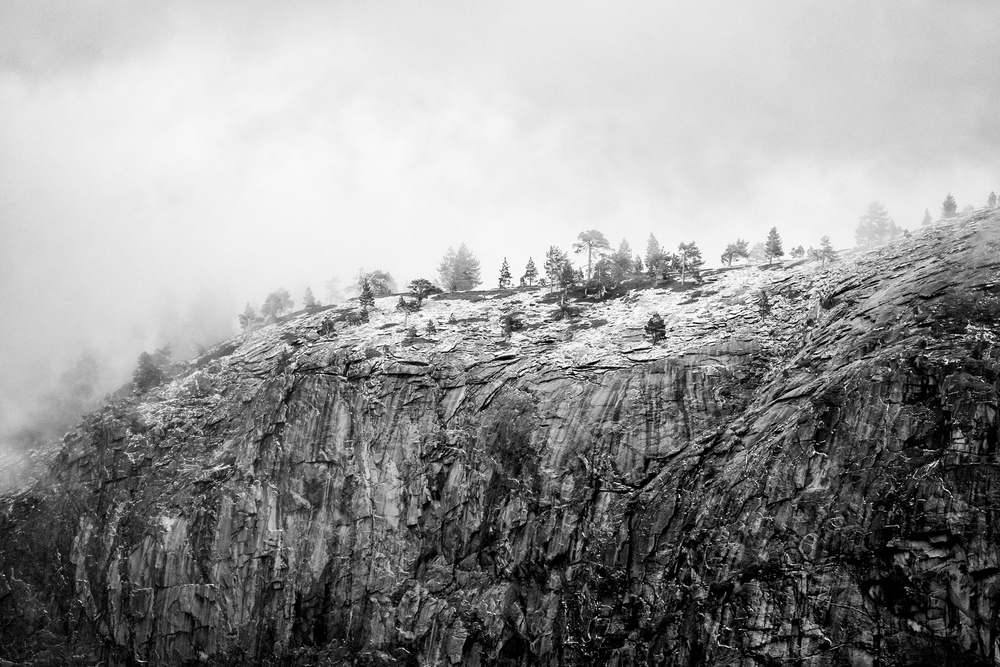 Yosemite lends itself well to black and white photography. I love this shot of the top of El Capitan.