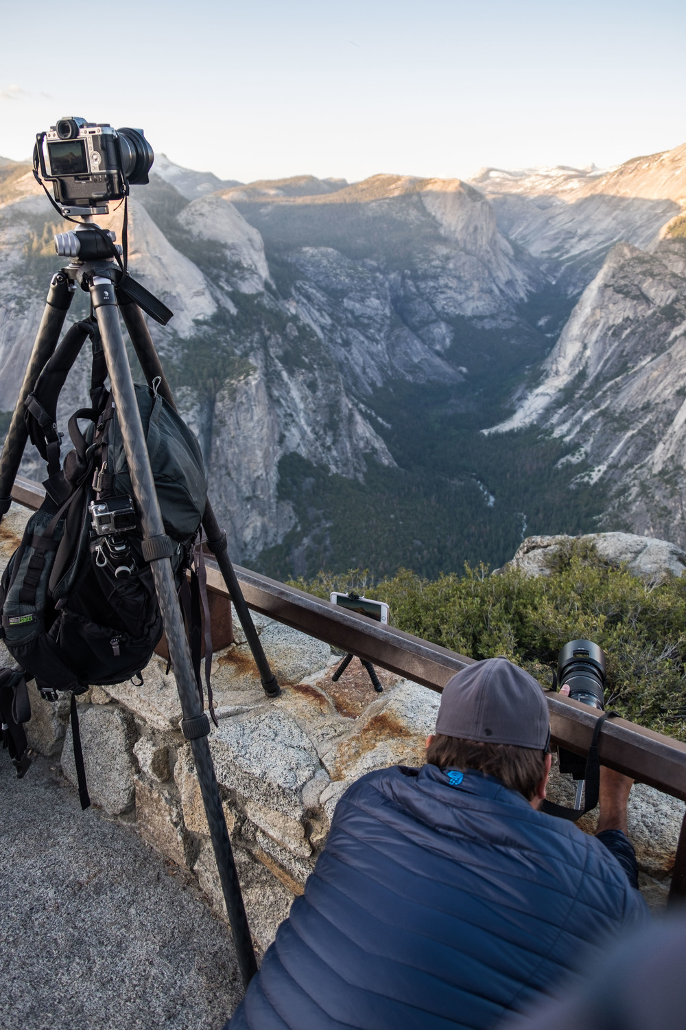 Jonathan Irish capturing the iconic Tunnel View at Yosemite.