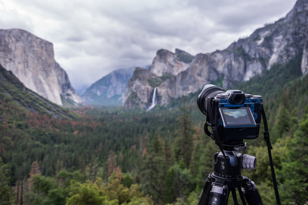 Timelapse in motion at Yosemite's Tunnel View.