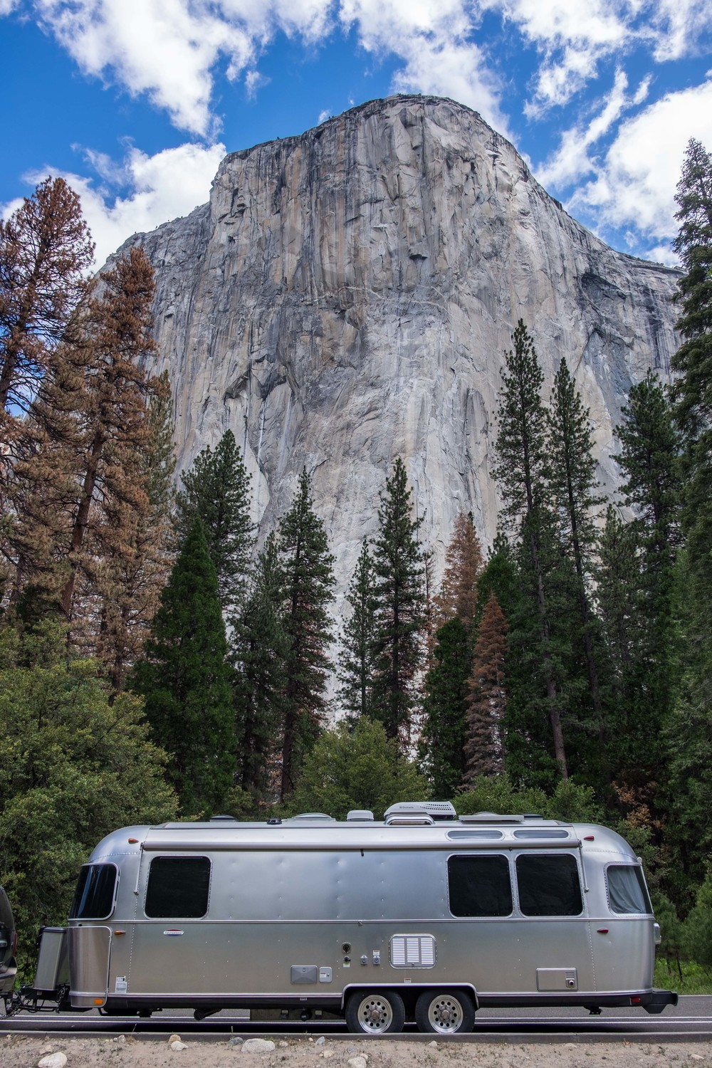 Wally dwarfed beneath El Cap in Yosemite.
