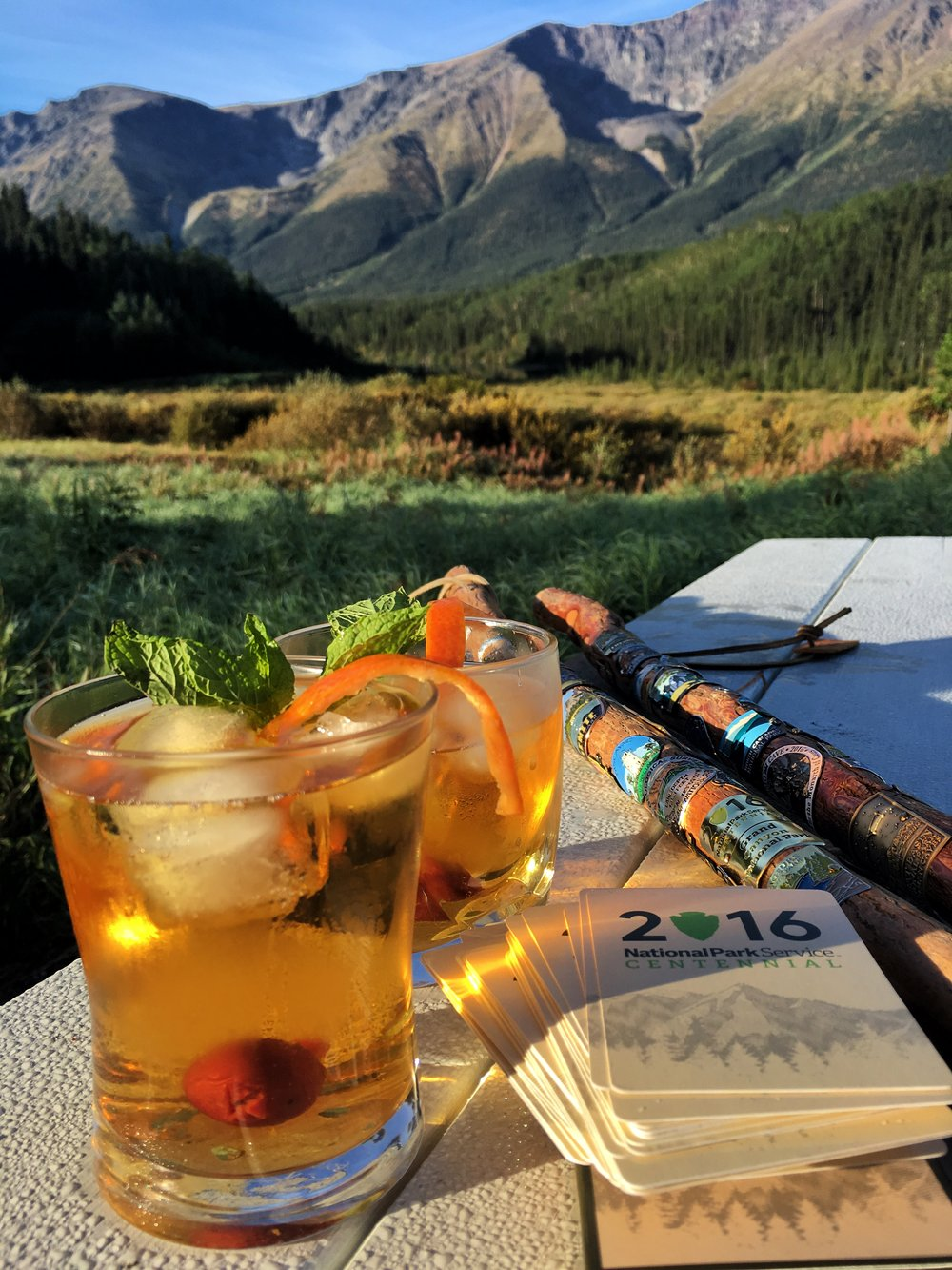 The Centennial Cocktail, created by Stefanie Payne and Jonathan Irish to celebrate the centennial anniversary of the U.S. National Park Service on August 25, 2016.