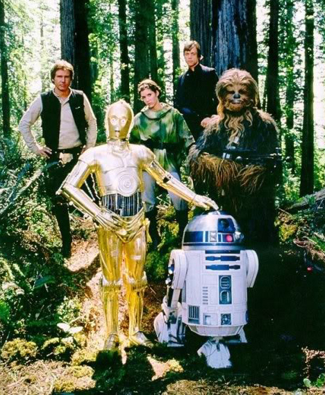 Endor, the planet of the Ewoks in Star Wars Return of the Jedi, filmed at Redwood National and State Parks.