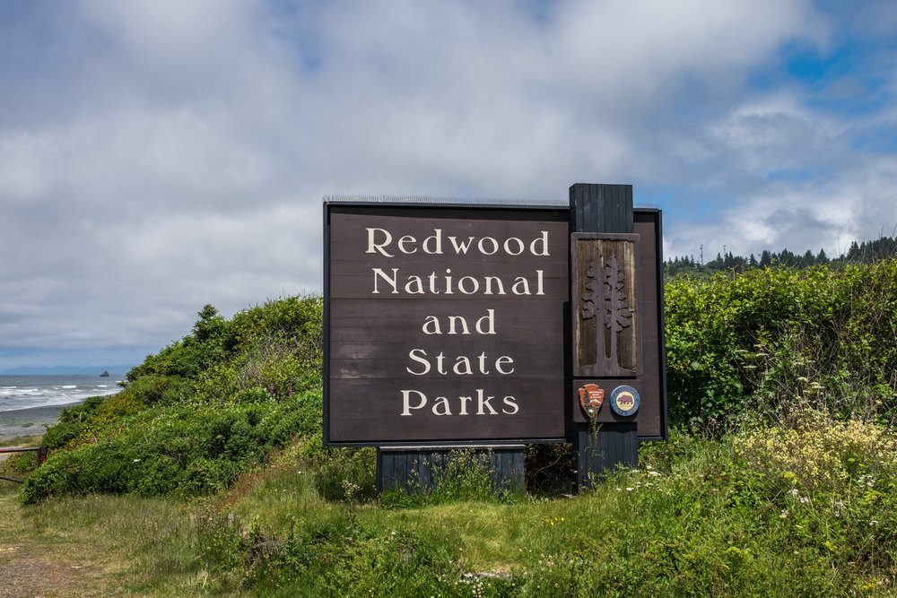 The sign at the south entrance to the park.