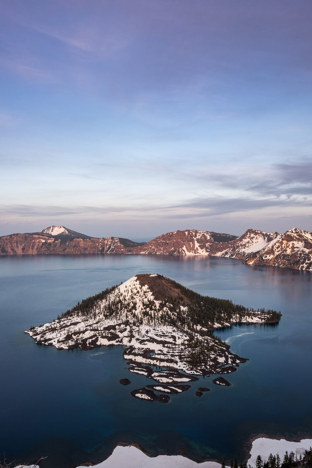 Sunset is a magical time at Crater Lake.