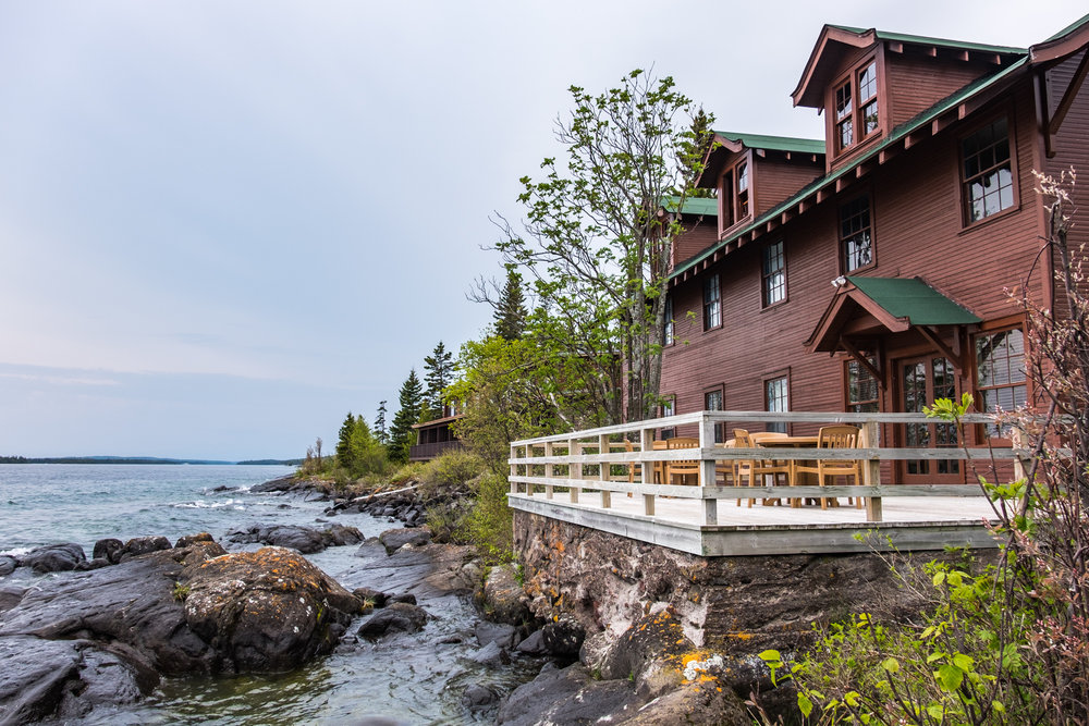 The Rock Harbor Lodge, situated on the northeast side of the island, is THE place to stay while exploring this national park.
