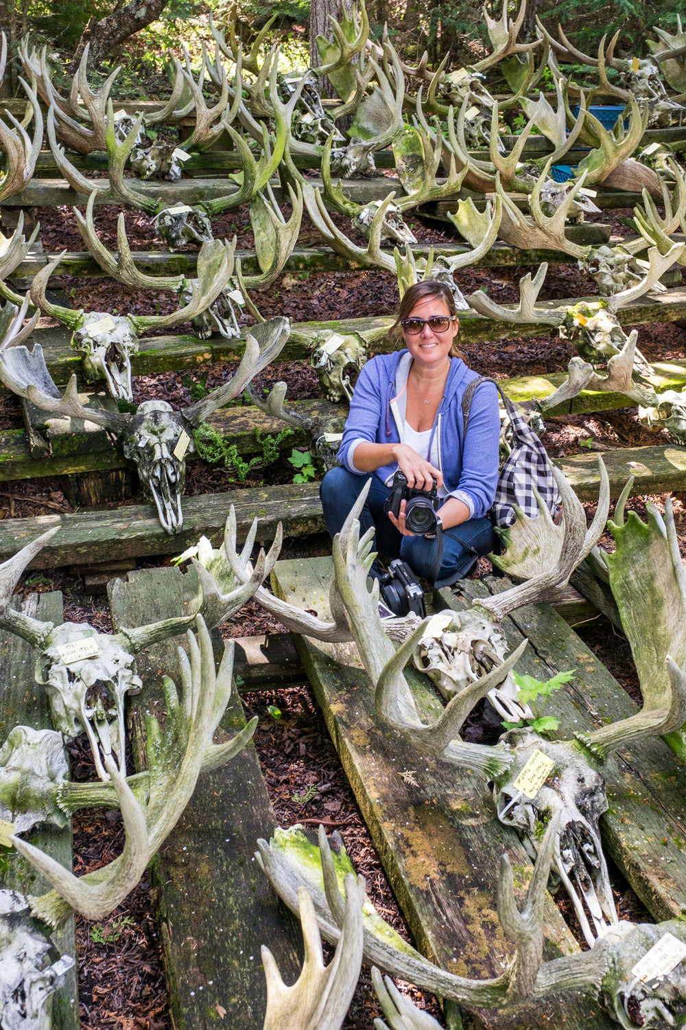 Stef thought I was crazy for asking her to pose in the middle of the skulls, but I thought the place need a bit of beauty.