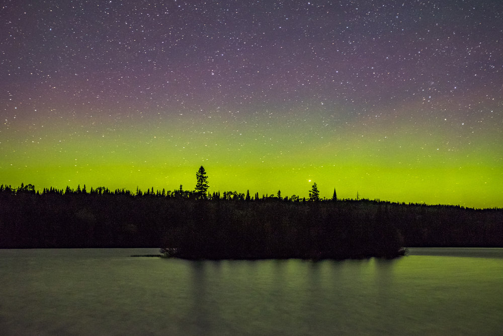 One of the best places in North America to view the Aurora Borealis is on Isle Royale.