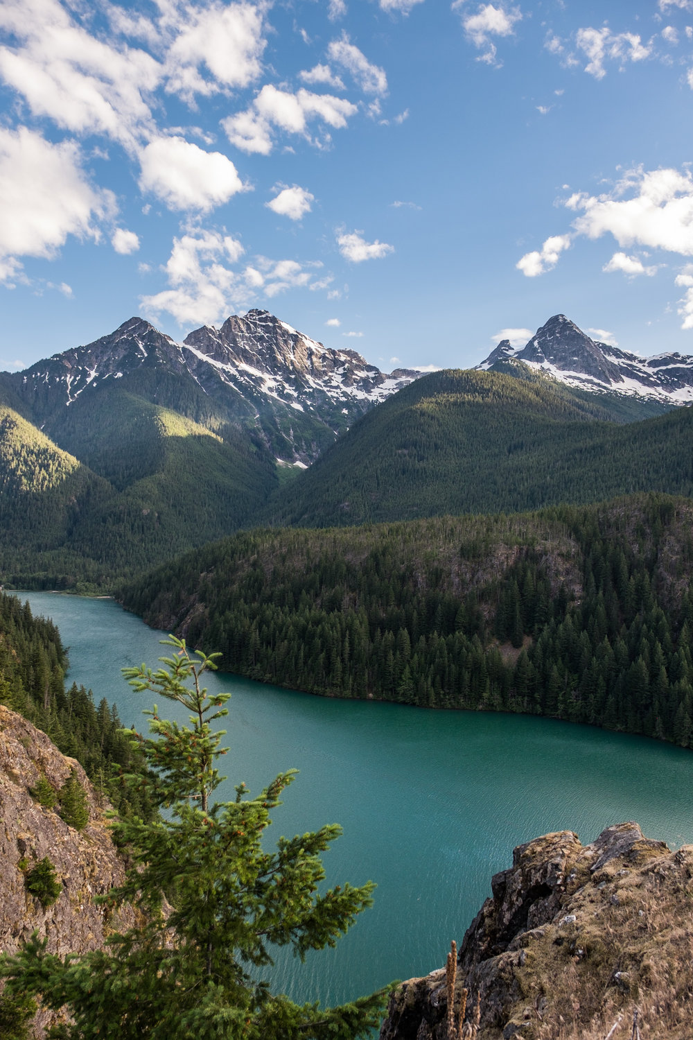 Diablo Lake lookout is a great stop along the Cascades Highway.