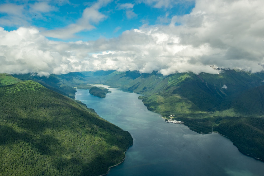 This was our first glimpse of Alaska from the air, and it took our breath away.