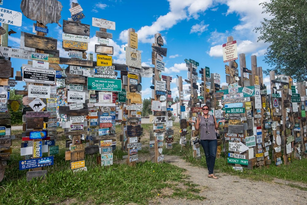 The Sign Post Forest in the Yukon Territory.