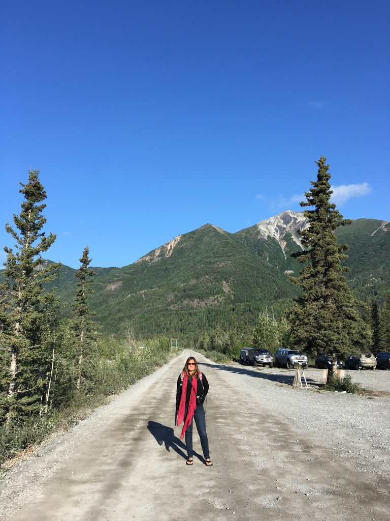 "Stefanie, AKA, ""the Girl with the Red Scarf"" finds aloneness near Wrangell St. Elias National Park in Alaska."