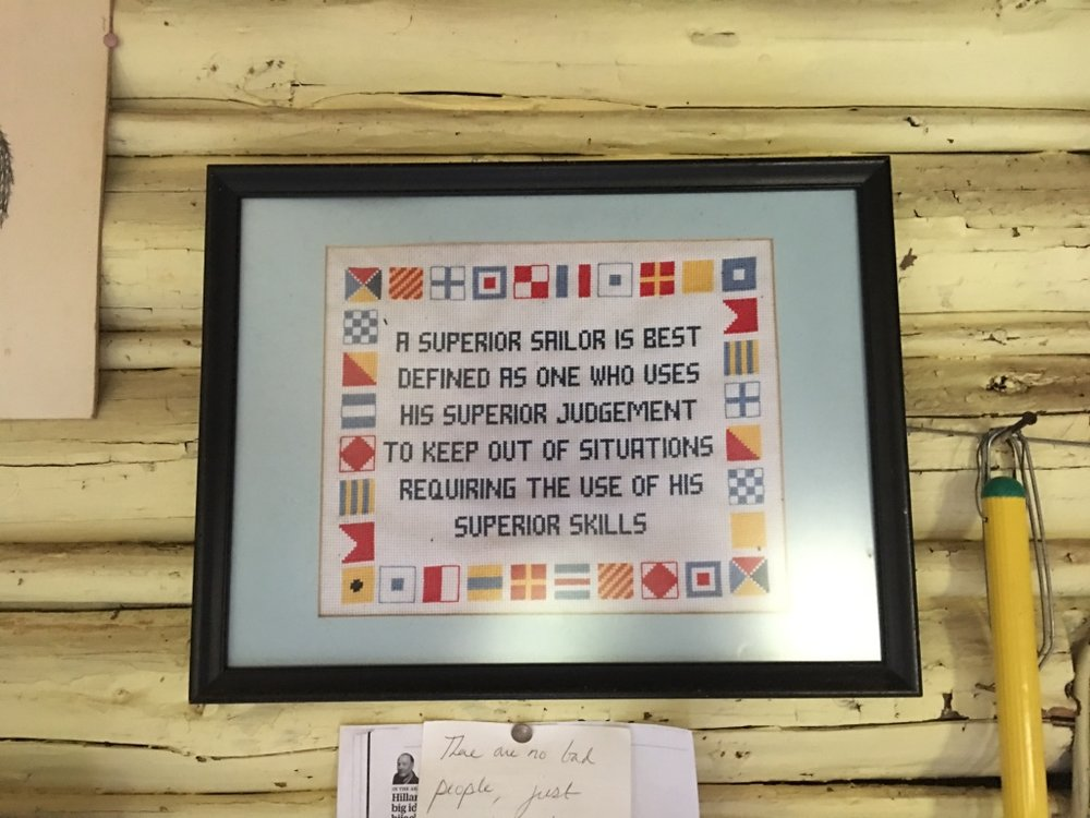 A maritime proverb.