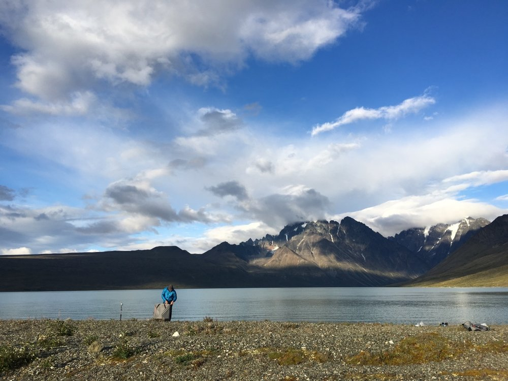 Jon sets up the Oru Kayak in our secluded backcountry paradise in Lake Clark, Alaska.