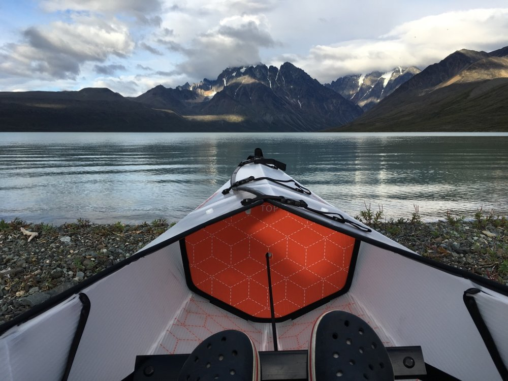 Cracked open our new Oru Kayaks in Lake Clark National Park in Alaska.