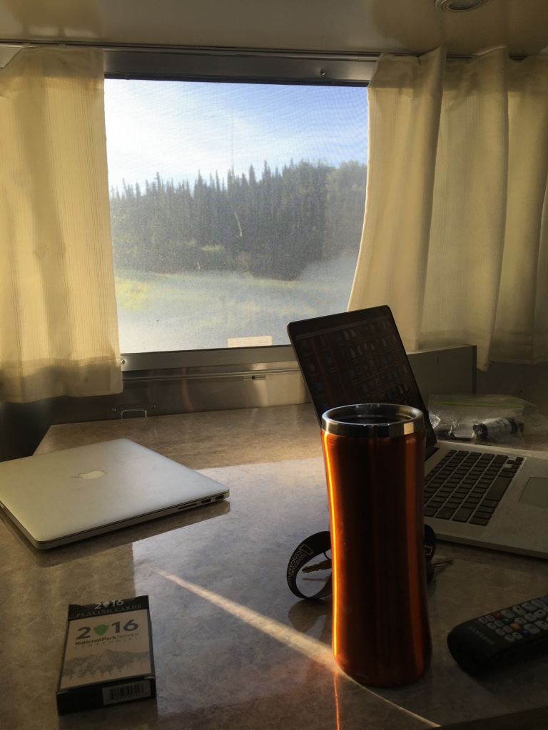 On drive days, the coffee and computers are the last things to be packed up.
