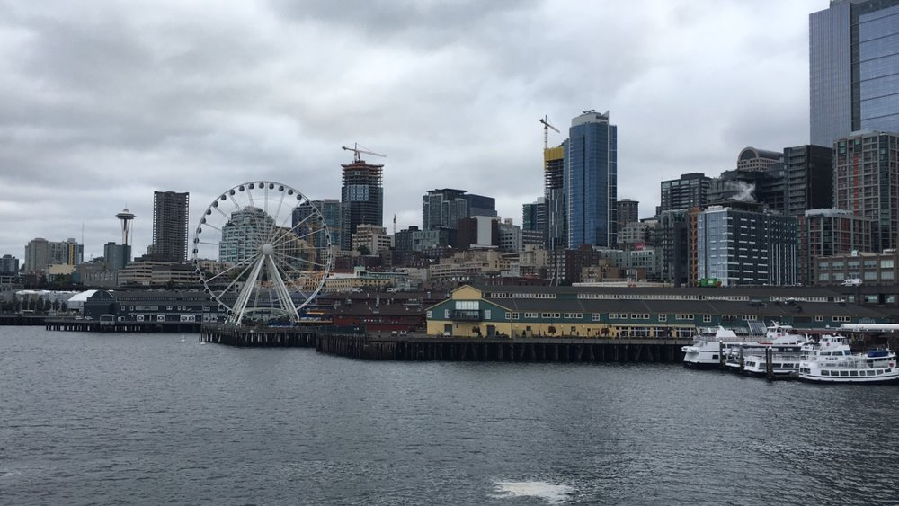 Hopped on a Seattle ferry in Stefanie's hometown.