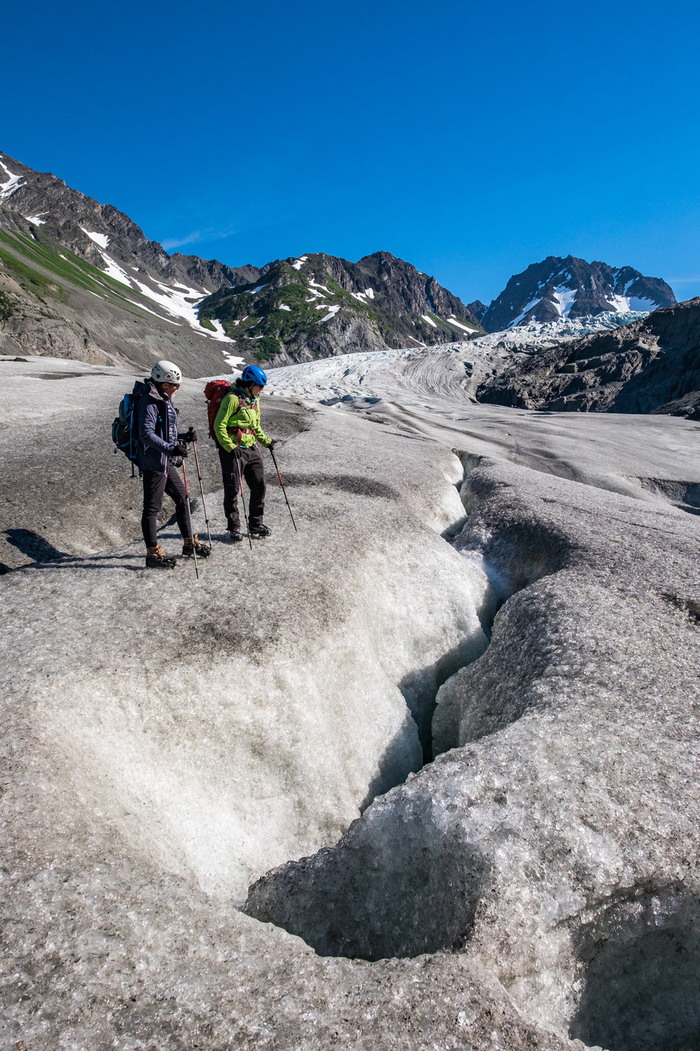 It was a fun few hours exploring the lower reaches of the glacier. We had it all to ourselves!