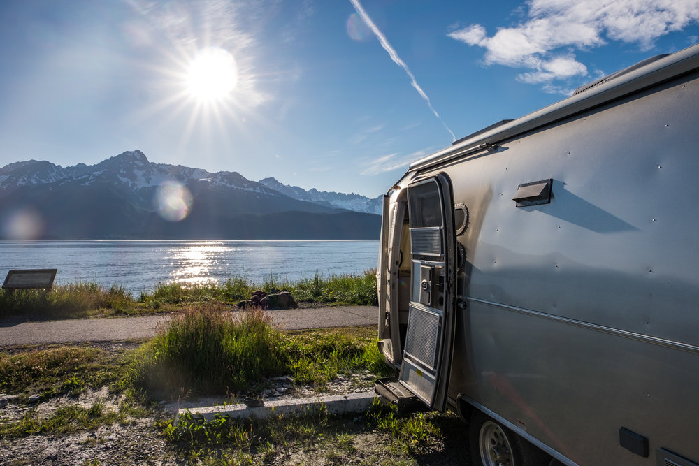 Wally the Airstream found a perfect camping spot in one of Seward's awesome waterfront campgrounds, just a couple of minutes from the Liquid Adventures' office from where we would push off to explore the Kenai Peninsula.
