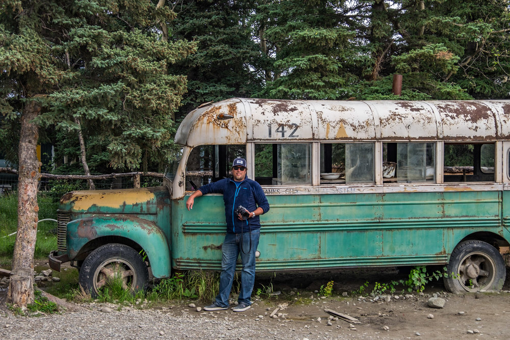 We stopped at the 49th State Brewery just outside the park to grab some beers and see the bus that was used in the movie Into the Wild. The actual bus is just north of the Teklanika River on Stampede Pass.